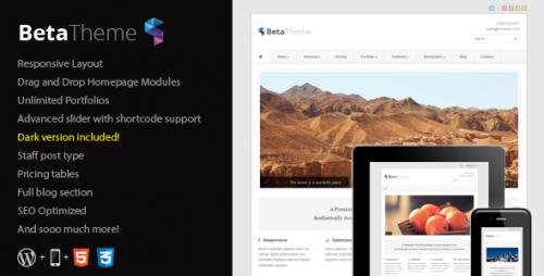 55_Beta - Clean Corporate WordPress Theme