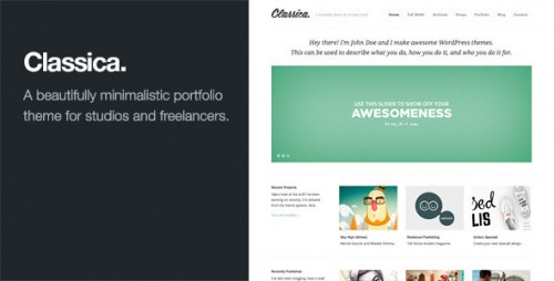 7_Classica - Minimalistic WordPress Portfolio Theme