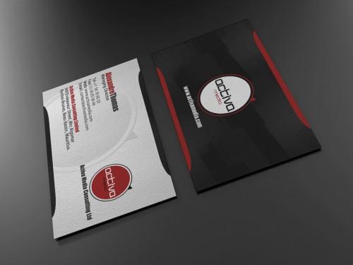 8_Elegant Black Business Card