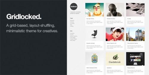 8_Gridlocked - Minimalistic WordPress Portfolio Theme