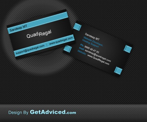 9_Black N Blue Business Card