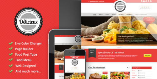 11_Delicieux - Restaurant Wordpress Theme