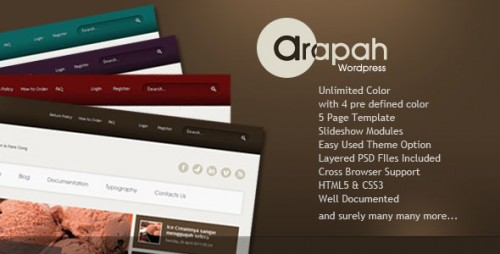 13_Arapah - Modern Culinary WordPress Themes
