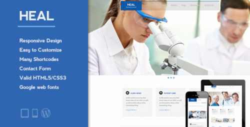15_HEAL - Responsive Medical WordPress Theme