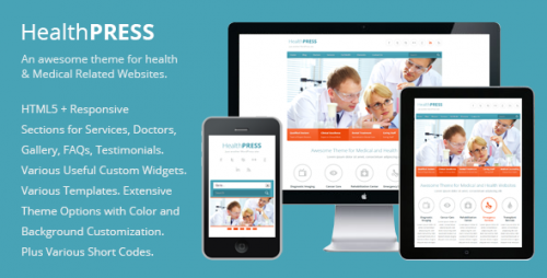 16_HealthPress - Health and Medical WordPress Theme