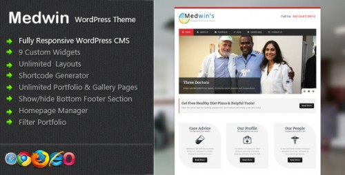 1_Medwin - Responsive Medical WordPress Theme
