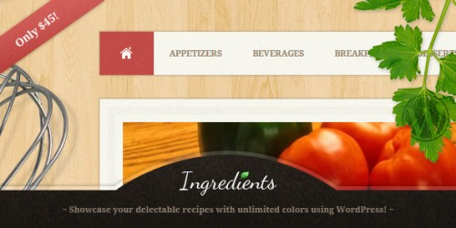 37_Ingredients - A Fresh Recipe WordPress Theme