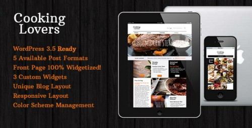 3_Cooking Lovers - Responsive WordPress Theme