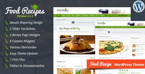 40_Food Recipes - WordPress Theme