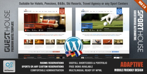 42_Guesthouse - Hotel & Sport Center 2in1 Premium Theme