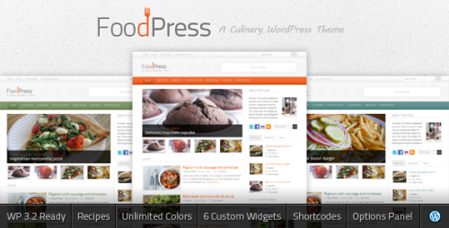 48_FoodPress - A Recipe & Food Blog WordPress Theme