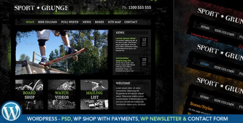 50_Sport and Grunge - WordPress Shop & Newsletter