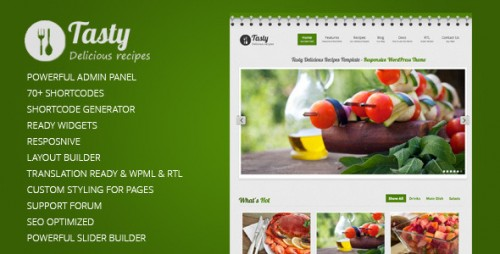 7_Tasty Responsive Food WordPress Theme