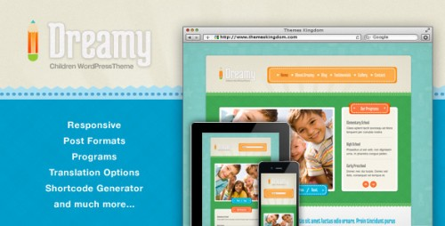 8_Dreamy - Responsive Children WordPress Theme
