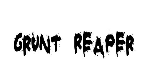 Grunt Reaper Font