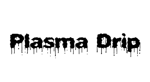 Plasma Drip Font