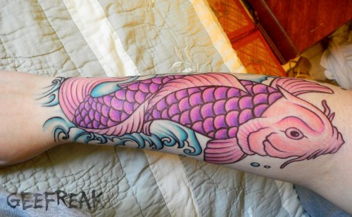 Beautiful Koi Fish- Tattoo Design