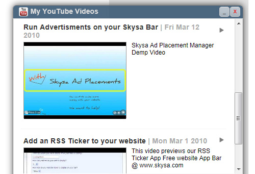 Skysa YouTube Videos App