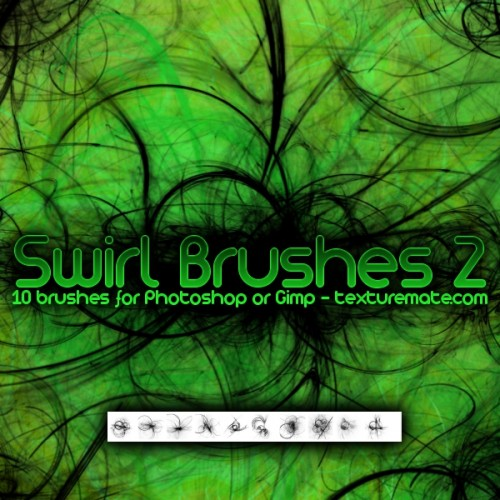10 Swirl Brushes for Free Download