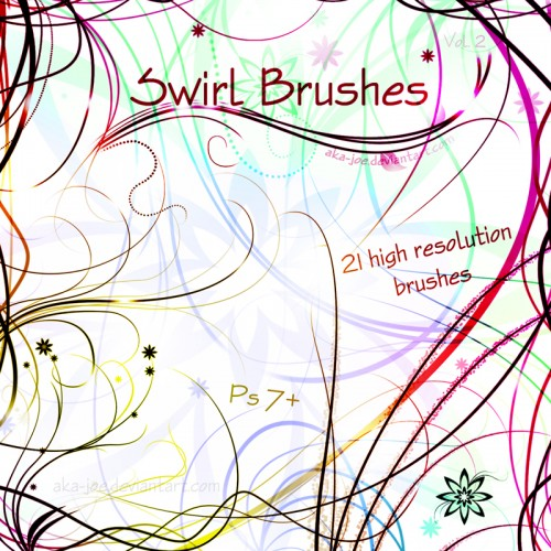 21 Swirl Brushes for Photoshop