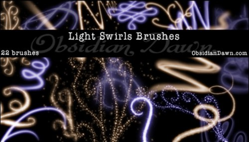 22 Light Swirls Free Brushes