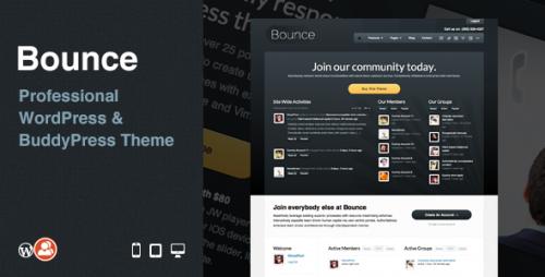 Bounce: Professional BuddyPress Theme