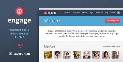 Engage - BuddyPress, bbPress Theme