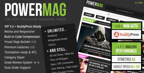 PowerMag: Muscular Magazine, Reviews Theme