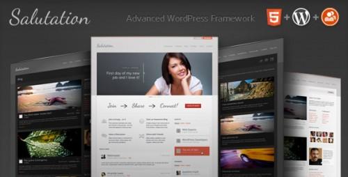 Salutation: WordPress + BuddyPress Theme
