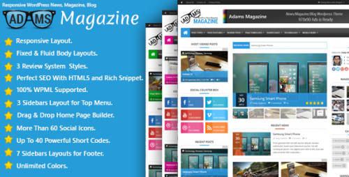 Adams - Responsive News, Magazine, Blog Theme