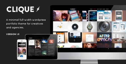 Clique - AJAX Responsive Portfolio WP Theme