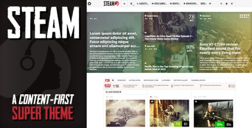 Steam - Responsive Retina Magazine Theme