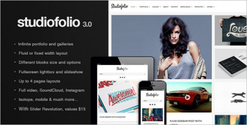 Studiofolio - Versatile Portfolio and Blog Theme