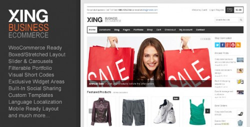 Xing - eCommerce WordPress Theme
