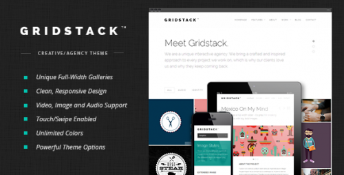 GridStack - Responsive Agency WP Theme