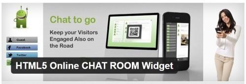 HTML5 Online CHAT ROOM Widget