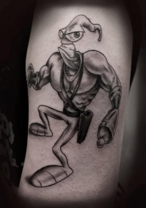 Earthworm Jim Tattoo