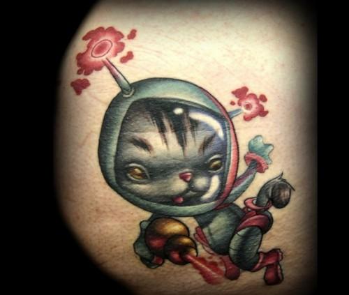 Kitty Cat Cartoon Tattoo Designs