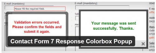 Contact Form 7 Response Colorbox Popup