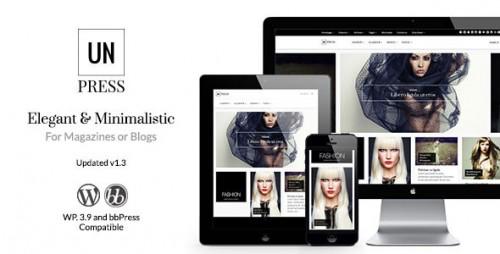 unPress Magazine - Elegant & Minimalistic Theme