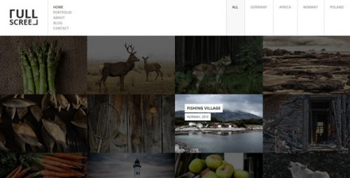 FULLSCREEN - Photography Portfolio WordPress Theme