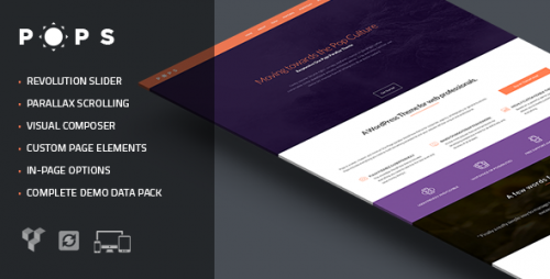 Pops - Responsive One Page Parallax Theme