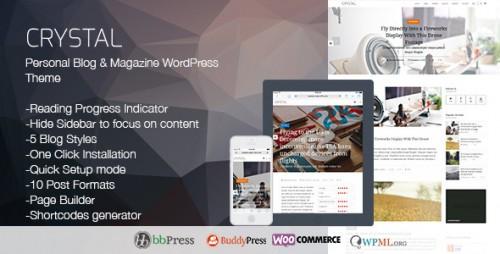 Crystal - Personal Blog WordPress Theme