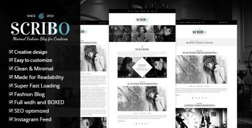 Scribbo - Minimal Elegant Fashion WordPress Blog Theme