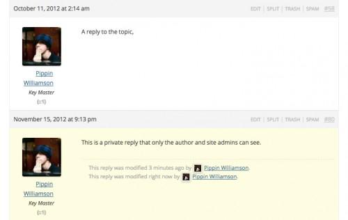 bbPress - Private Replies