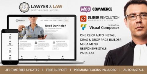 Lawyer & Law - Attorney, Advocate WordPress Theme