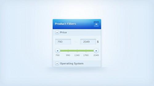 Clean Price Slider