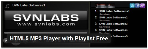 HTML5 MP3 Player with Playlist Free
