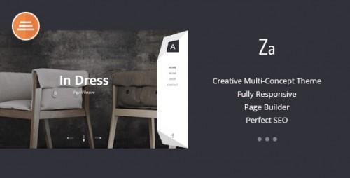 Za - Fashion Portfolio WordPress Theme