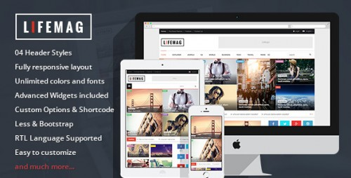 LifeMag - Responsive Magazine WordPress Theme